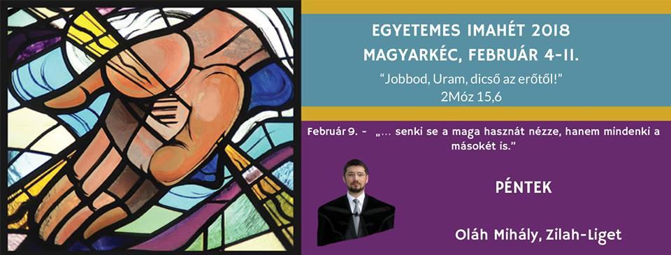 2018. 02. 09. – Imaheti alkalom – Oláh Mihály – Fil 2,1-4