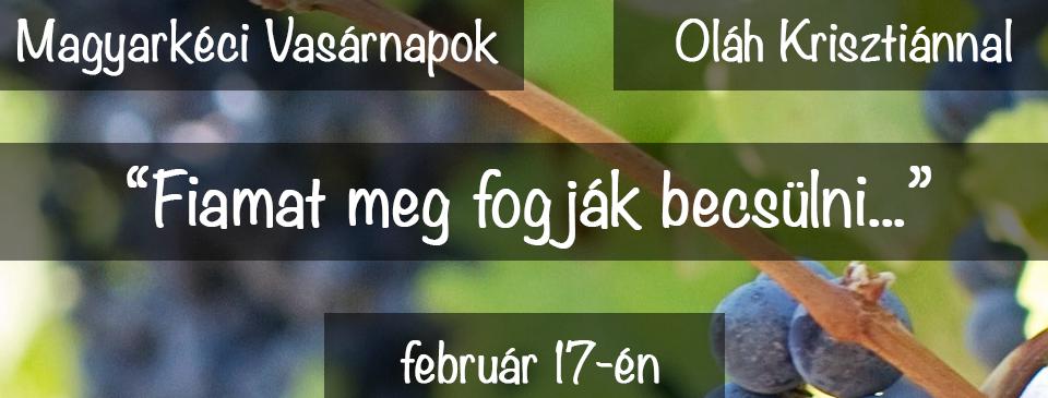 2019. 02. 17. – Oláh Krisztián – Fiamat meg fogják becsülni – Márk 12, 1-12